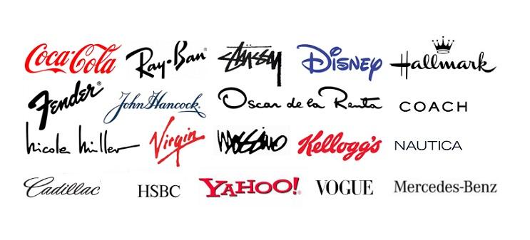 Logos famosos realizados con tipografias
