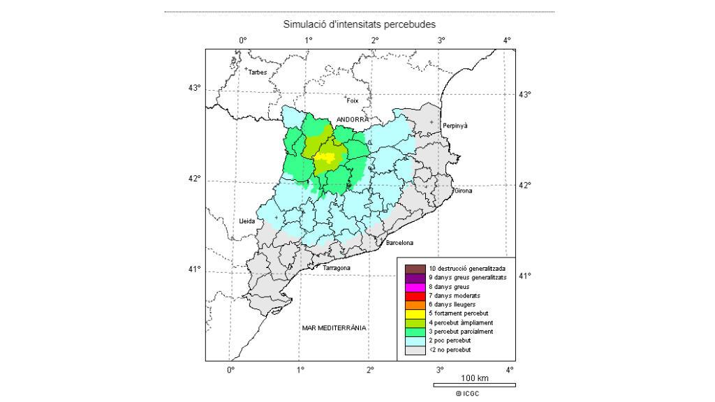 Un terremoto de grado 4,3 se deja sentir a varios puntos de Cataluña